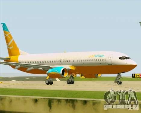 Boeing 737-800 Orbit Airlines для GTA San Andreas вид изнутри