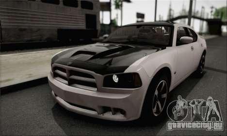 Dodge Charger SuperBee для GTA San Andreas вид сзади