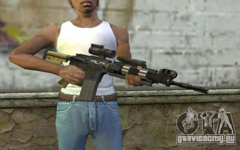 M4 MGS Aimpoint v2 для GTA San Andreas третий скриншот