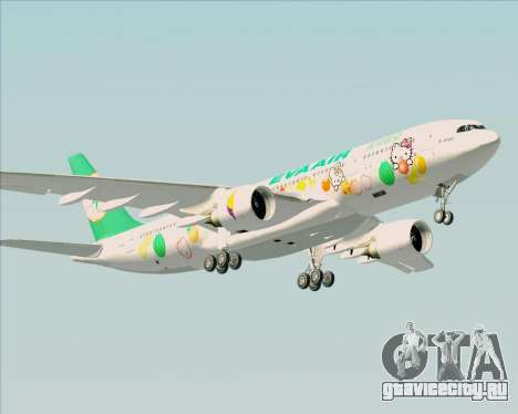 Airbus A330-200 EVA Air (Hello Kitty) для GTA San Andreas вид справа