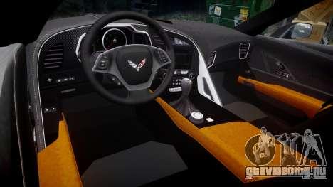 Chevrolet Corvette C7 Stingray 2014 v2.0 TireYA3 для GTA 4 вид изнутри