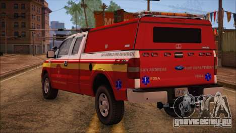 Ford F150 Fire Department Utility 2005 для GTA San Andreas вид слева