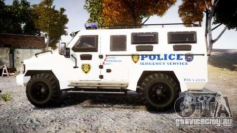 SWAT Van Police Emergency Service [ELS] для GTA 4 вид слева