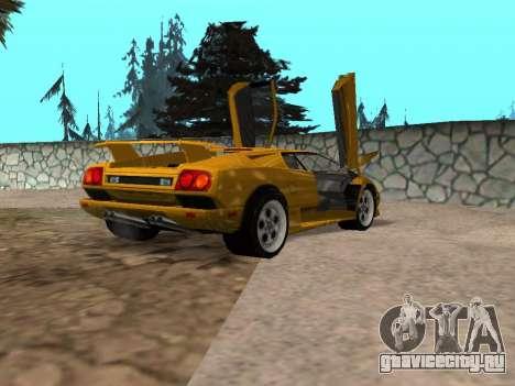 Lamborghini Diablo для GTA San Andreas вид слева