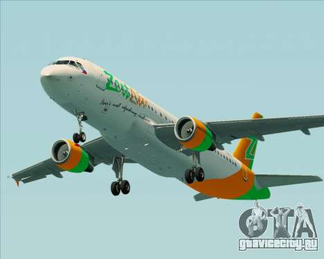 Airbus A320-200 Zest Air для GTA San Andreas двигатель