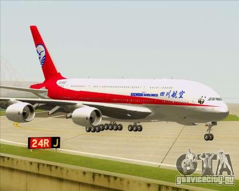 Airbus A380-800 Sichuan Airlines для GTA San Andreas вид сзади слева