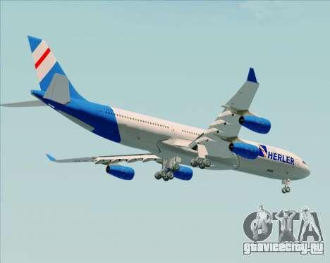 Airbus A340-300 Air Herler для GTA San Andreas вид снизу