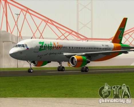 Airbus A320-200 Zest Air для GTA San Andreas вид сзади слева