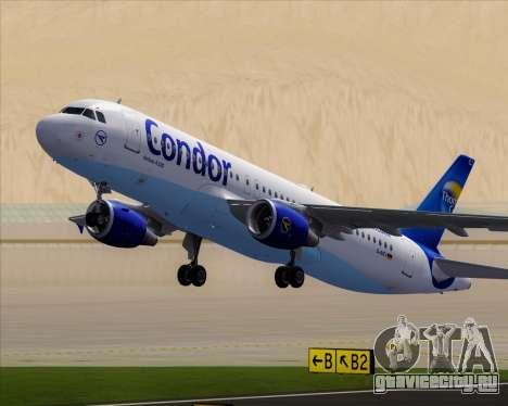 Airbus A320-200 Condor для GTA San Andreas колёса