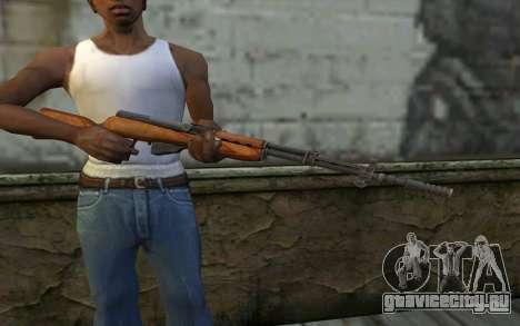 Самозарядный Карабин Симонова для GTA San Andreas третий скриншот