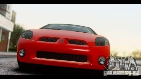 Mitsubishi Eclipse 2006 для GTA San Andreas вид сзади слева