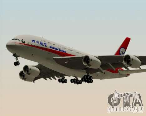 Airbus A380-800 Sichuan Airlines для GTA San Andreas вид слева