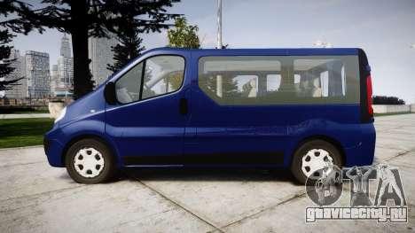 Renault Trafic Passenger для GTA 4 вид слева