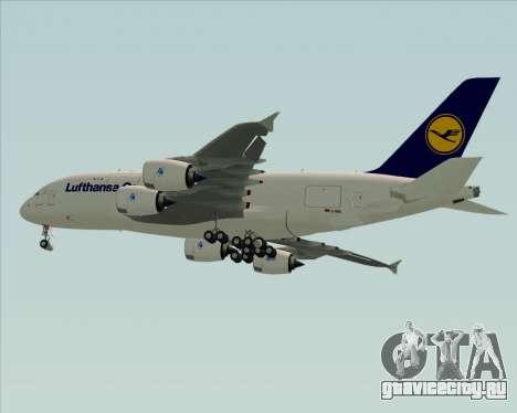 Airbus A380-800F Lufthansa Cargo для GTA San Andreas вид справа