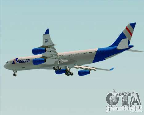 Airbus A340-300 Air Herler для GTA San Andreas вид сзади
