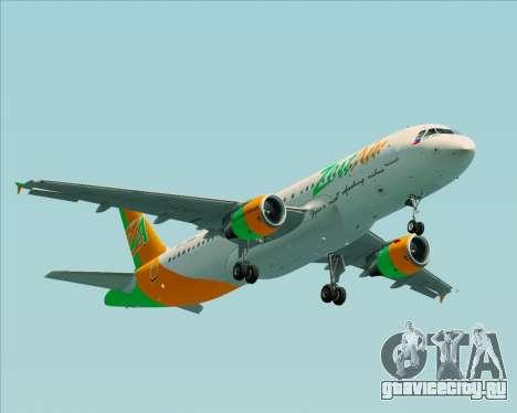 Airbus A320-200 Zest Air для GTA San Andreas вид изнутри