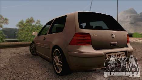 Volkswagen Golf Mk4 GTI для GTA San Andreas вид слева