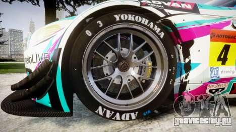 BMW Z4 GT3 2014 Goodsmile Racing для GTA 4 вид сзади