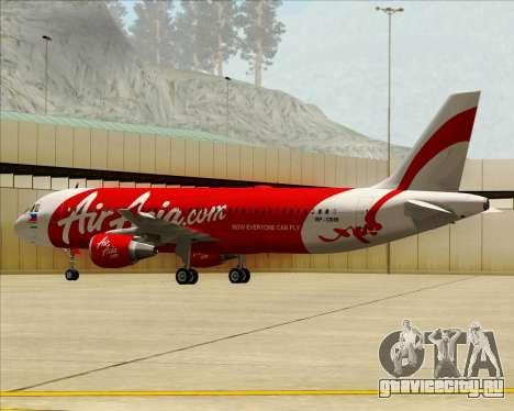 Airbus A320-200 Air Asia Philippines для GTA San Andreas вид изнутри