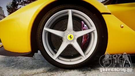 Ferrari LaFerrari [EPM] v1.2 для GTA 4 вид сзади
