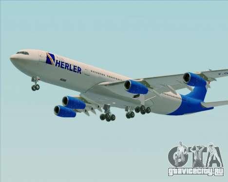 Airbus A340-300 Air Herler для GTA San Andreas вид сбоку