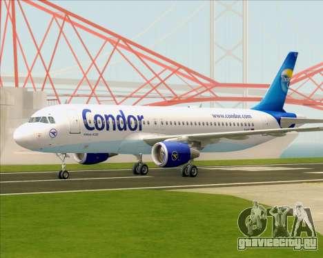 Airbus A320-200 Condor для GTA San Andreas вид сзади слева