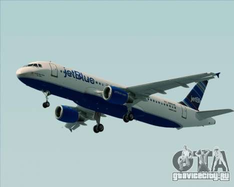 Airbus A320-200 JetBlue Airways для GTA San Andreas вид сзади слева
