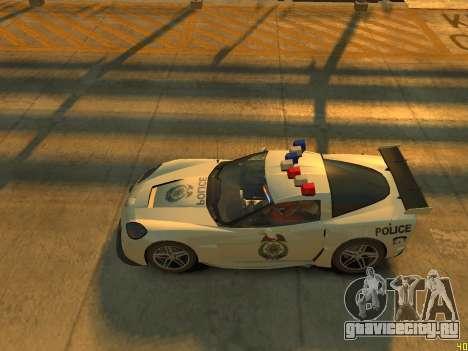 Chevrolet Corvette Z06 Police для GTA 4 вид изнутри