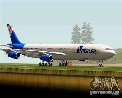 Airbus A340-300 Air Herler для GTA San Andreas вид изнутри