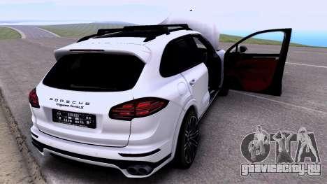 Porsche Cayenne Turbo S GTS 2015 для GTA San Andreas вид сзади слева