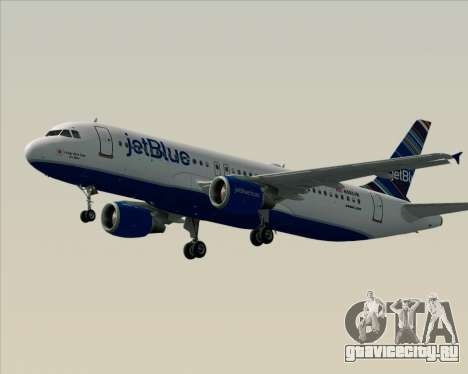 Airbus A320-200 JetBlue Airways для GTA San Andreas вид снизу