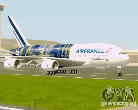 Airbus A380-800 Air France для GTA San Andreas вид сзади слева