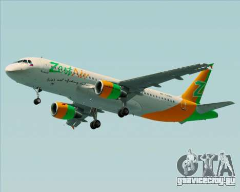Airbus A320-200 Zest Air для GTA San Andreas колёса