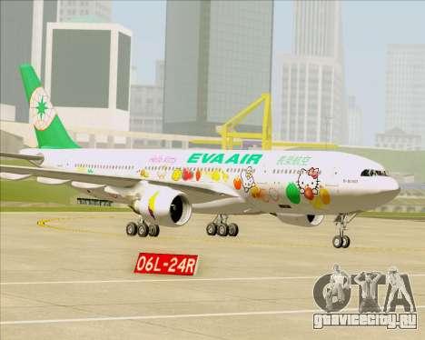 Airbus A330-200 EVA Air (Hello Kitty) для GTA San Andreas колёса