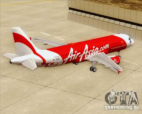 Airbus A320-200 Air Asia Philippines для GTA San Andreas вид снизу
