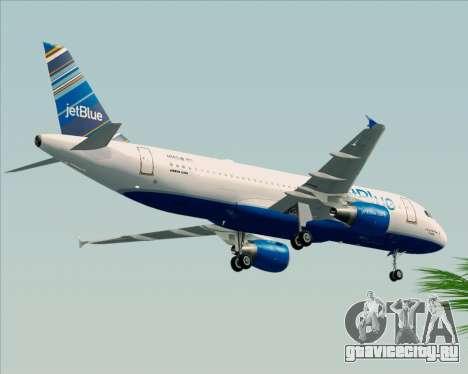 Airbus A320-200 JetBlue Airways для GTA San Andreas вид сзади