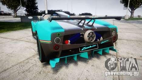 Pagani Zonda Uno для GTA 4 вид сзади слева