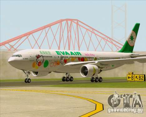 Airbus A330-200 EVA Air (Hello Kitty) для GTA San Andreas вид слева