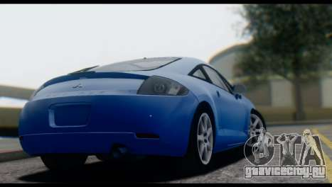Mitsubishi Eclipse 2006 для GTA San Andreas вид сзади