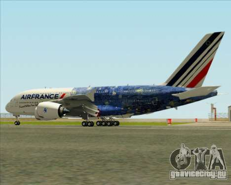 Airbus A380-800 Air France для GTA San Andreas колёса