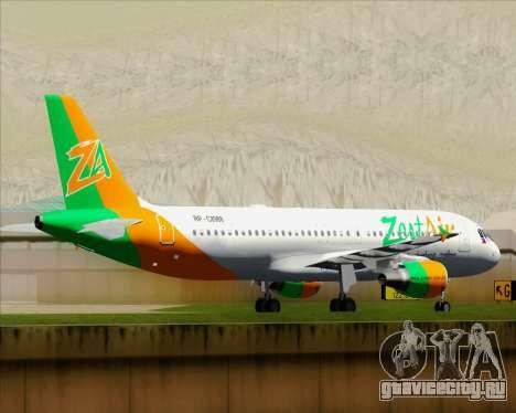 Airbus A320-200 Zest Air для GTA San Andreas вид сверху