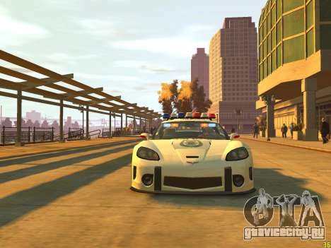 Chevrolet Corvette Z06 Police для GTA 4 вид сзади слева