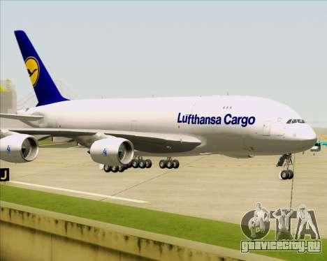 Airbus A380-800F Lufthansa Cargo для GTA San Andreas вид сверху