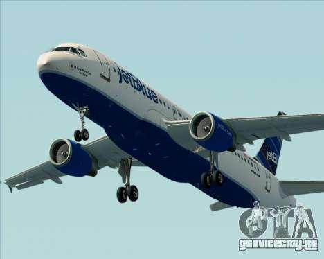 Airbus A320-200 JetBlue Airways для GTA San Andreas двигатель