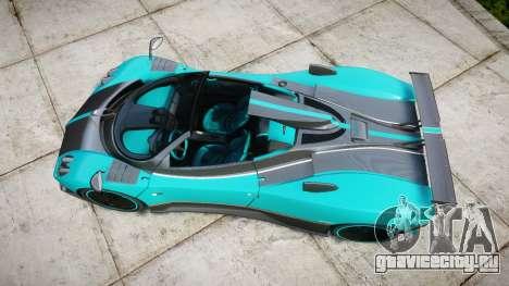 Pagani Zonda Uno для GTA 4 вид справа