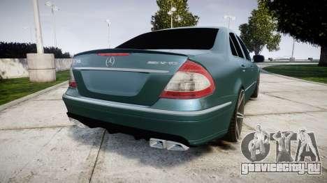 Mercedes-Benz W211 E55 AMG Vossen VVS CV5 для GTA 4 вид сзади слева
