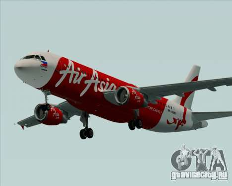 Airbus A320-200 Air Asia Philippines для GTA San Andreas вид сверху