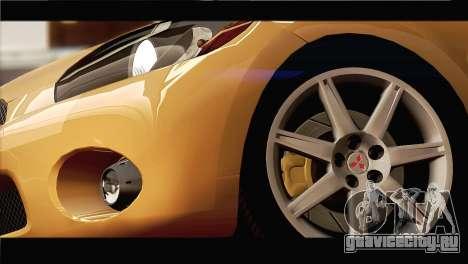 Mitsubishi Eclipse 2006 для GTA San Andreas вид сбоку