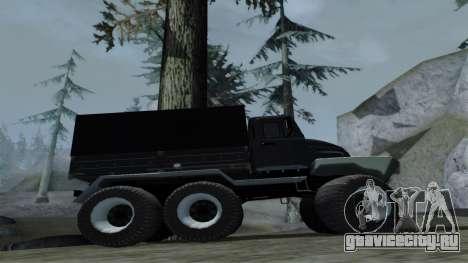 ЗиЛ Кержак 6х6 для GTA San Andreas вид сзади