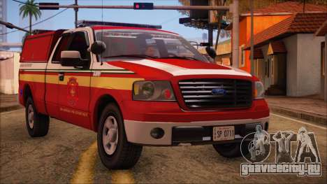 Ford F150 Fire Department Utility 2005 для GTA San Andreas